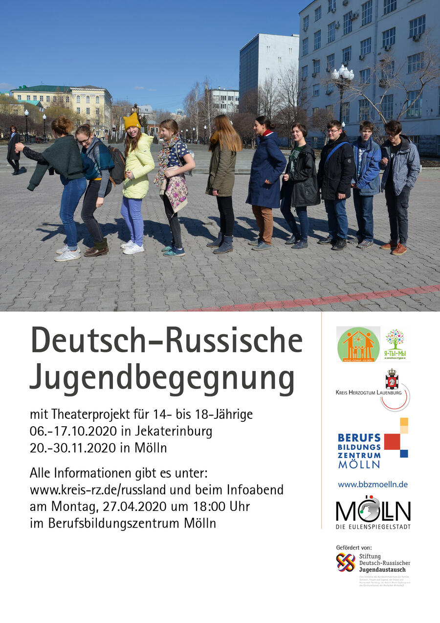 Plakat 2020 Deutsch-Russische Jugendbegegnung