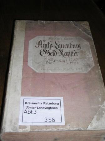 Geldregister des Amtes Lauenburg