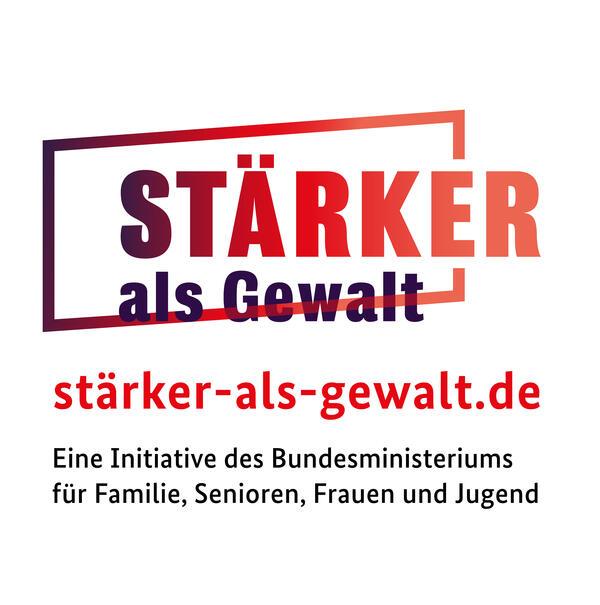 Logo - Stärker als Gewalt (BMFSFJ)