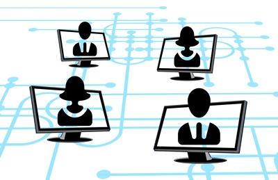 Foto vernetzte IT-Struktur