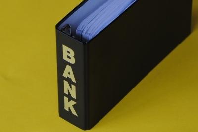 Foto Bankordner mit Kontoauszügen
