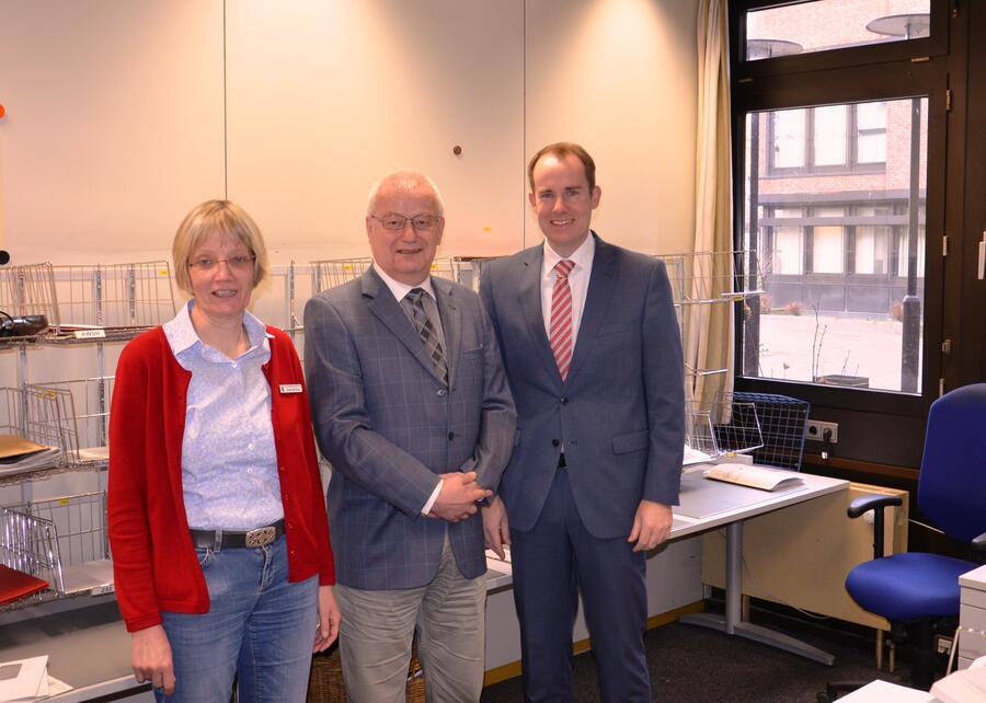 von links: Anke Büsing, Peter Ollrogge, Dr. Christoph Mager